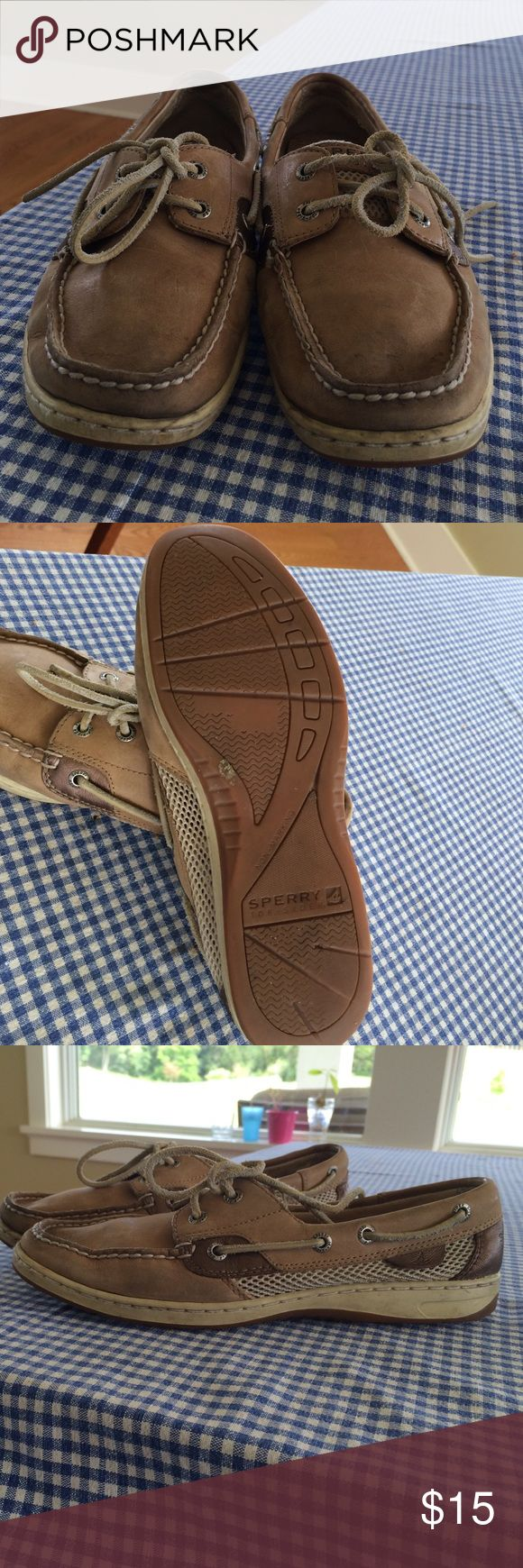 Sperry Top-Siders Size 8.5 Adorable and classic gently worn Sperry Top-Siders! Mesh sides for breathability and comfort. Already broken in but with lots of life left! Sperry Top-Sider Shoes