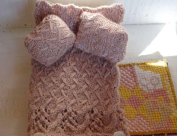literie miniature echelle 1/10 couverture et coussin soie et