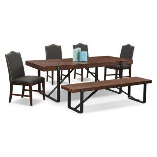Ideal Ronan Plank Bench Value City Furniture