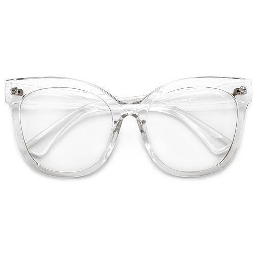 Oversize 58mm Retro Geek Chic Cat Eye Silhouette Eyewear