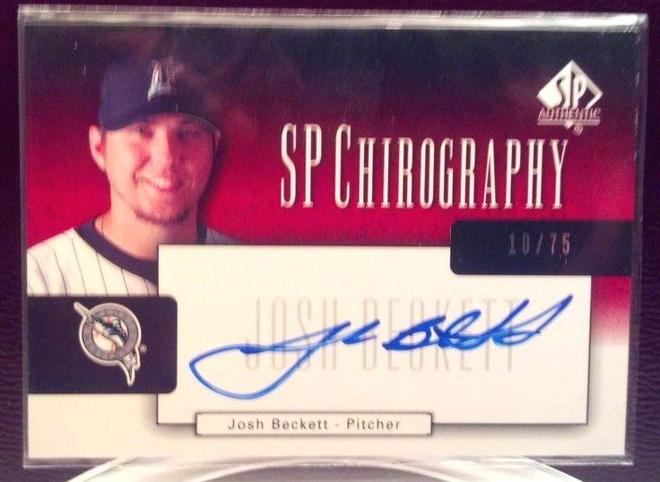 2004 SP Authentic Chirography #JB Josh Beckett Autograph 10/75 #FloridaMarlins