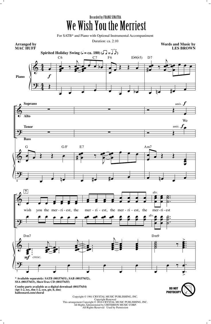 Mac Huff 'We Wish You The Merriest' Sheet Music Notes