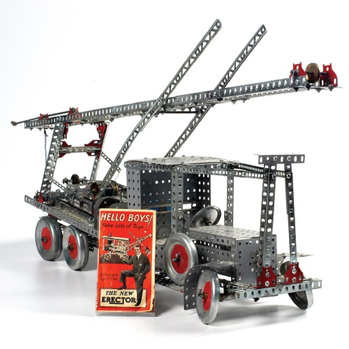 Erector construction motorized 100th anniversary set instructions
