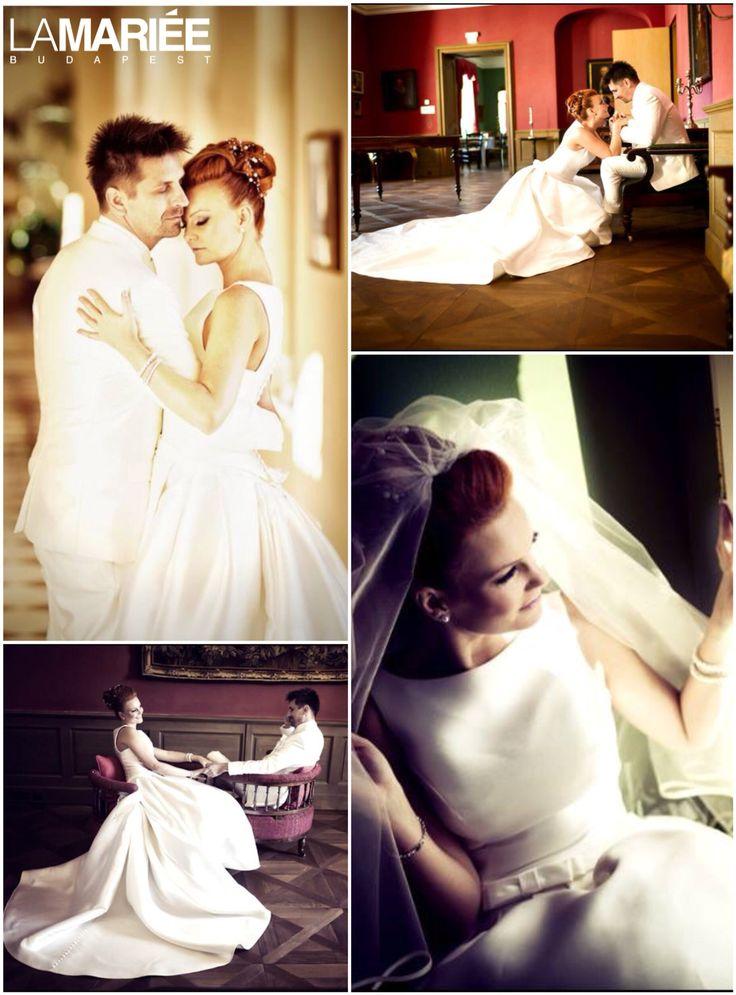 Barcaza esküvői ruha - 2015 Pronovias kollekció - Krisztina menyasszony -La Mariée Budapest esküvői ruhaszalon