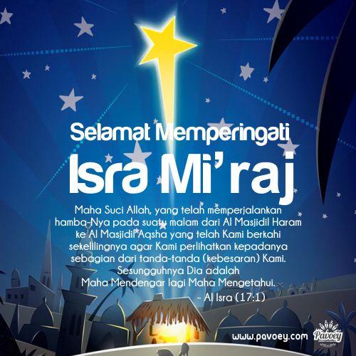 Selamat Memperingati Isra Mi'raj Nabi Muhammad SAW ! :)