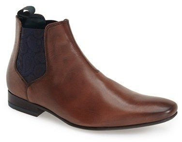 $165, Ted Baker London Hourb Chelsea Boot. Sold by Nordstrom. Click for more info: https://lookastic.com/men/shop_items/342846/redirect