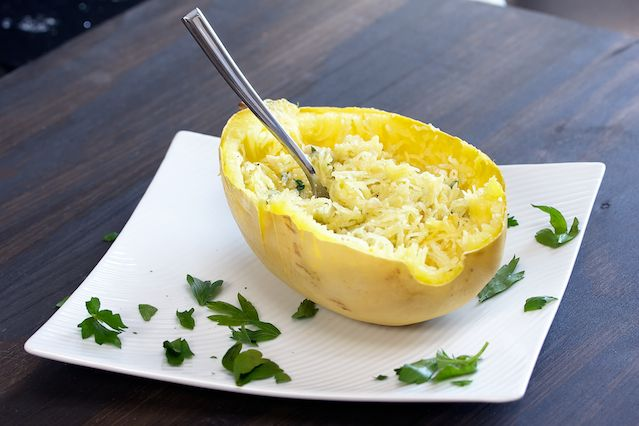 Spaghetti Squash with Garlic and Butter