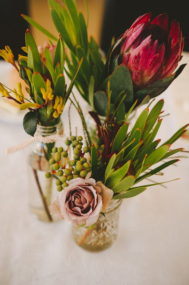 Stunning Australian native flower wedding flowers