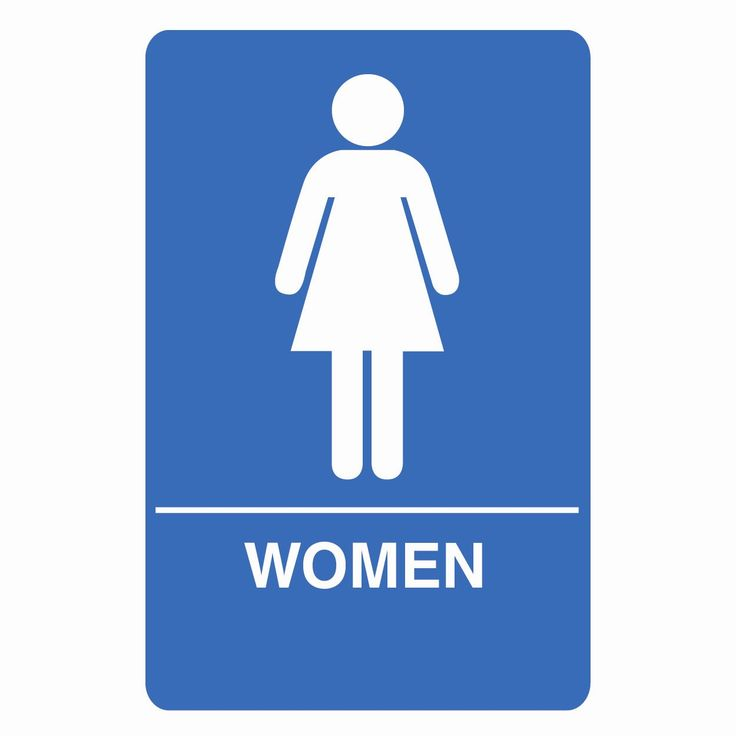 Bathroom Signs Ireland low cognitive effort. women's bathroom sign. | w310 clear | pinterest
