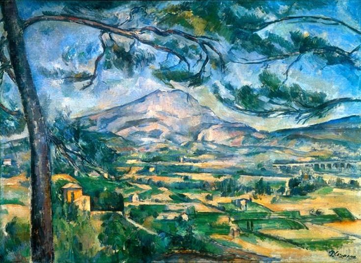 La Montagne Sainte Victoire peinte par Cézanne: Canvas Prints, Oil On Canvas, Paul Cezanne, Monte Saintevictoir, Monte Saint Victoir, Paul Cézann, Doce Paul, Circa 1887, Sainte Victoire