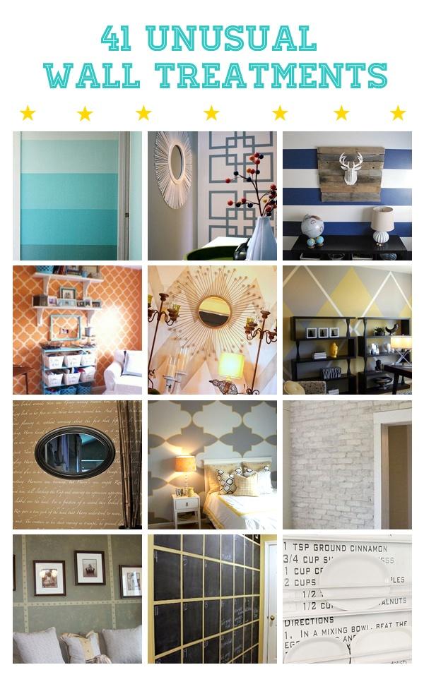 Wonder walls lisa i 39 s clipboard on creative wall treatments and tutorials - Cool wall treatments ...