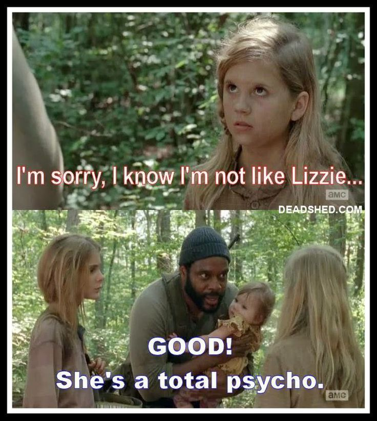 "Good, don't try to be like Lizzie, Mika. ""Look at the flowers Lizzie..."""