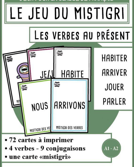 Mistigri Des Verbes Habiter Arriver Jouer Parler Mondolinguo Francais Jeux De Grammaire Conjugaison Cm2 Fle