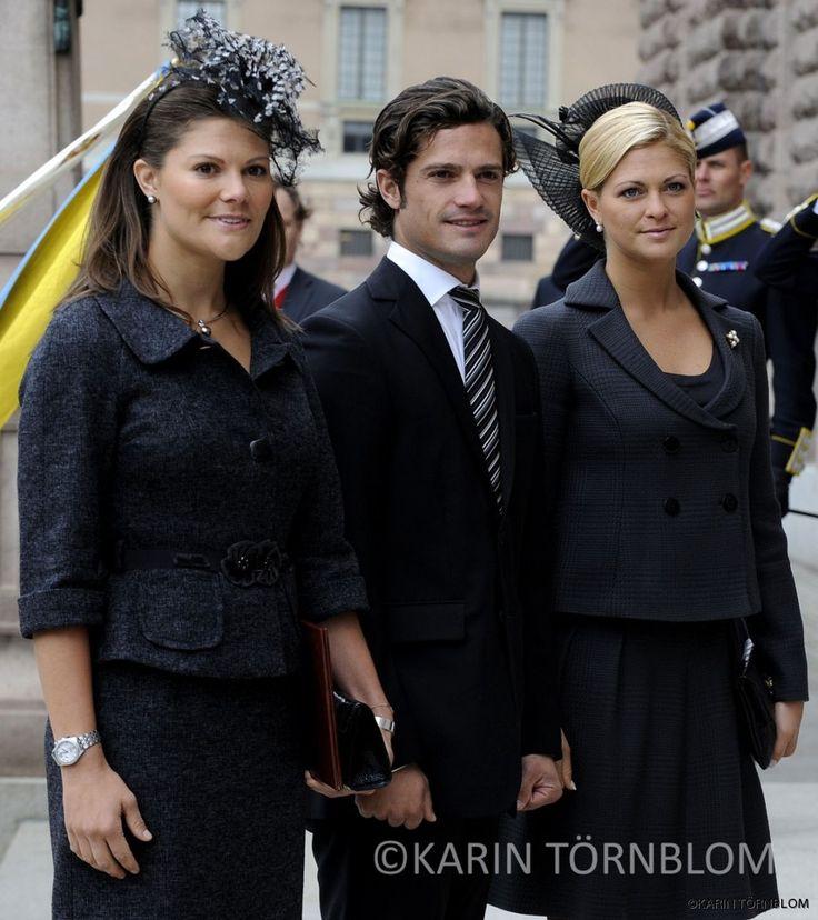 Princess Victoria, Prince Carl Philip, and Princess Madeleine of Sweden