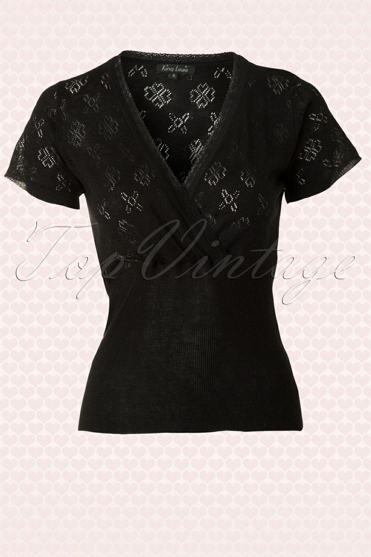 King Louie - 40s Cross Love Top in Black
