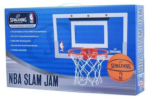 Spalding NBA Slam Jam Over-The-Door Team Edition Basketball Hoop