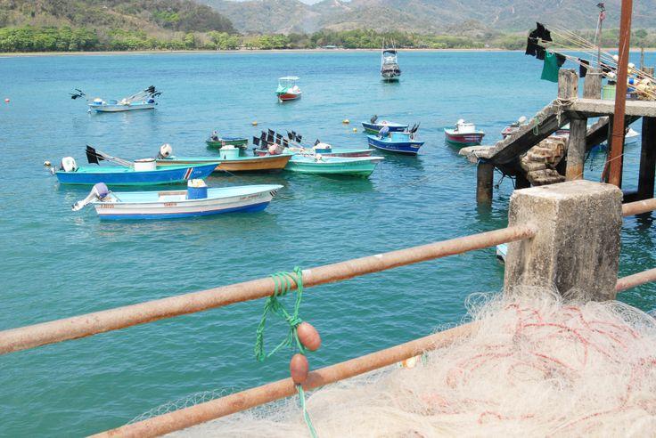The local fishing pier. Fresh fish daily. Playa Tambor.