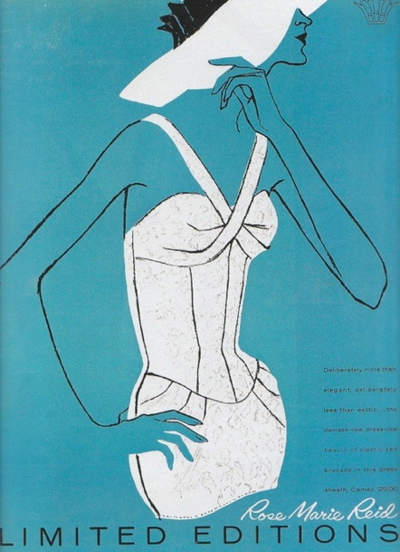 Rose Marie Reid Swimwear ad, 1958.