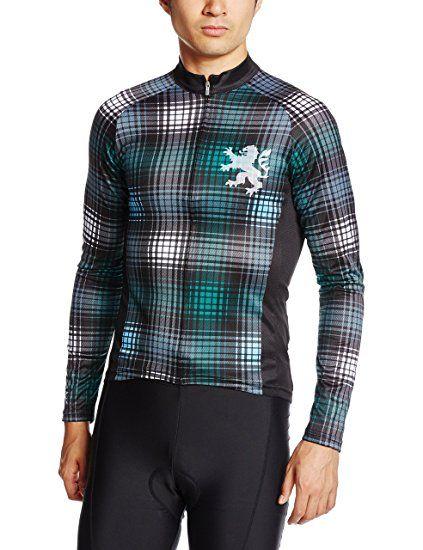 (カペルミュール)KAPELMUUR サイクリング 長袖サイクルジャージ ライオンチェック グリーン <kpls026> メンズ/レディース kpls026  グリーン L
