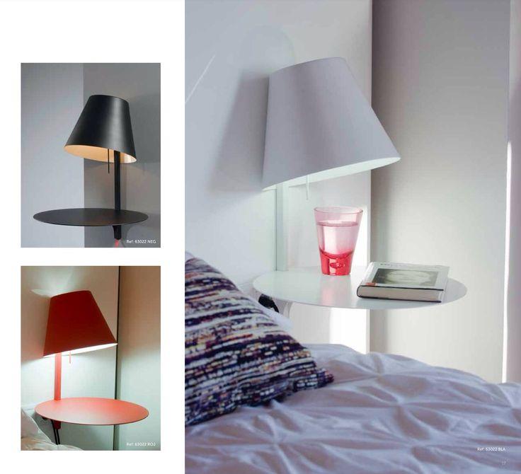 #Iluminacion de la mano de la firma Almerich aqui  te enseño la lampara Alux un bonito diseño para espacios pequeños, mesa auxiliar, para un cebidor o mesita de noche disponible en Blanco, Rojo y Negro con un diámetro de 38cm.
