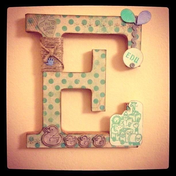 100% EDU: letra para decorar la habitación de un recién nacido.