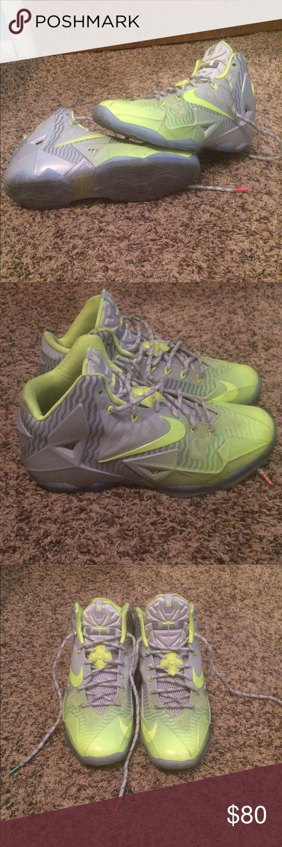 Nike LeBron 11 'Maison du LeBron' Volt-Ice Great condition, light ware. Nike Shoes Athletic Shoes