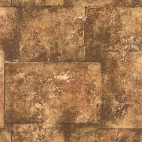 Taupe Tone Faux Stone Wallpaper « Cheap Apartment Decorating