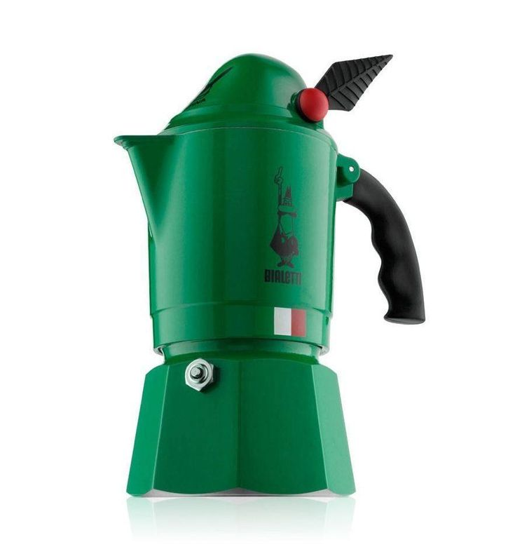 The Bialetti Moka Alpina brings you the famous espresso Bialetti has provided the world to your daily life in minutes while still keeping the distinctive colours and shapes that catch the eye.
