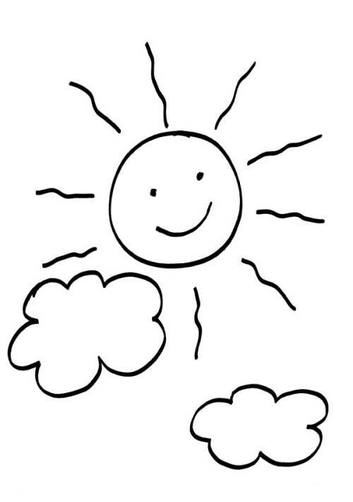 Sonne Und Wolken Zum Ausmalen Ausmalbilder Sonne Pinterest