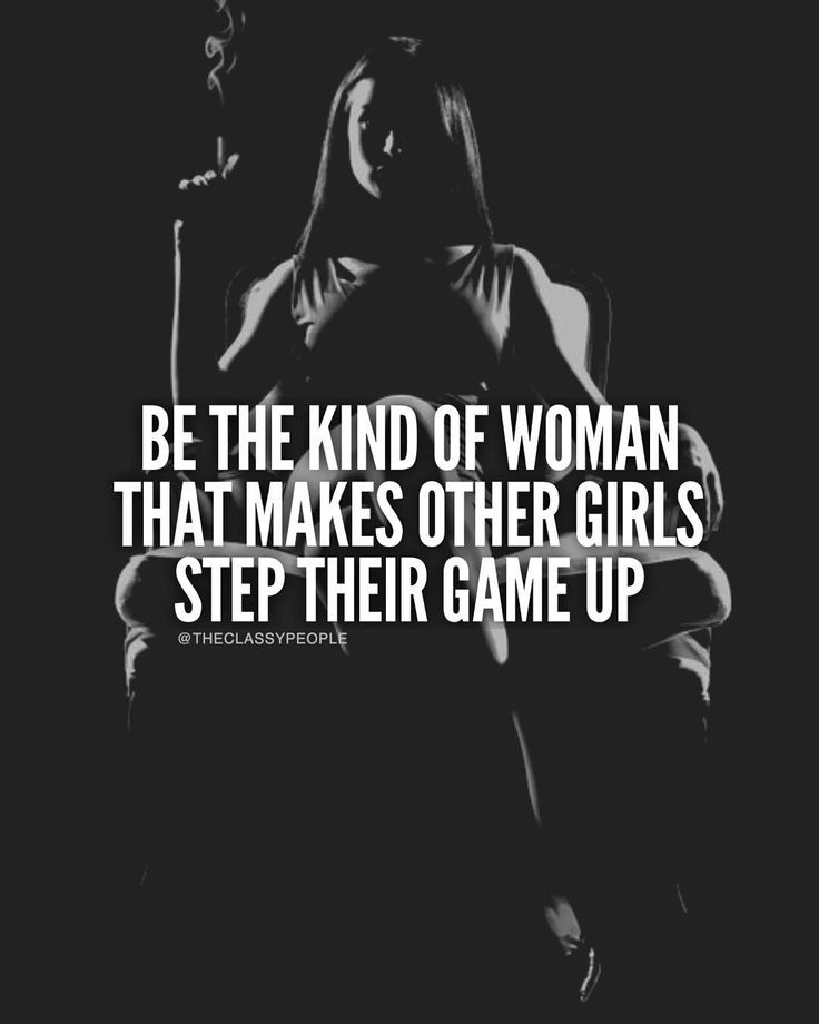 Isn't it funny how some woman only start stepping up when they feel they have something to prove