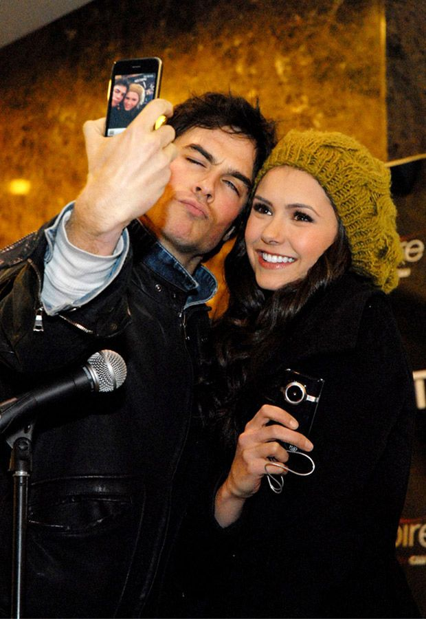 Ian Somerhalder and Nina Dobrev- ME AND @Maggie Moore Gilbertson WERE THERE AT THAT MEET AND GREET!!!