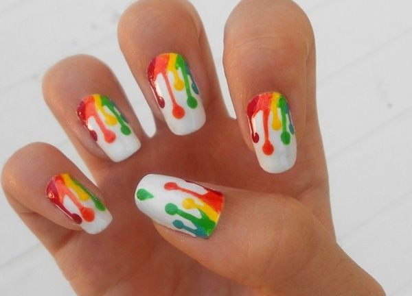 Ten Hand-Painted Nail Designs - This one is my favorite.
