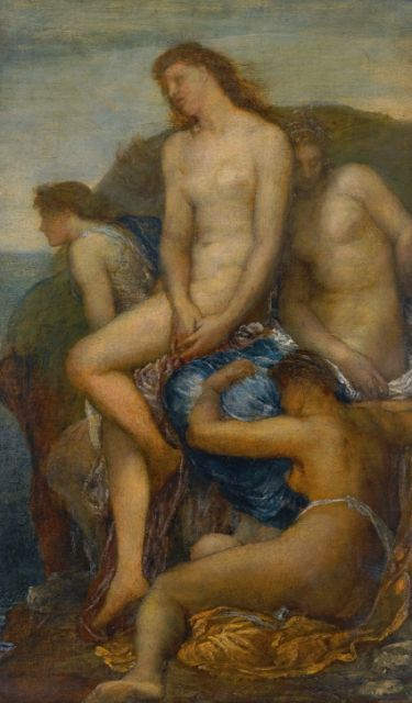 George Frederic Watts, O.M., R.A., 1817-1904 WATCHING FOR THE RETURN OF THESEUS Oil on canvas