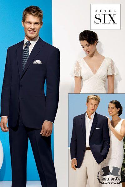 -the Riviera 2 button navy #suit  -flat front trousers  www.bernardsformalwear.com