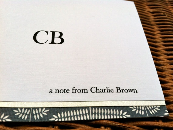 Personalized Stationery Set For Men by AllThatJazzBySophie on Etsy, $16.00