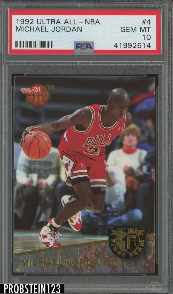 huge discount 4ef7d d64f6 1992 Ultra All-NBA  4 Michael Jordan PSA 10   Hottest PSA 10 Gem Mint Trading  Cards for Sale on eBay   Pinterest   Michael jordan, NBA and Basketball  cards