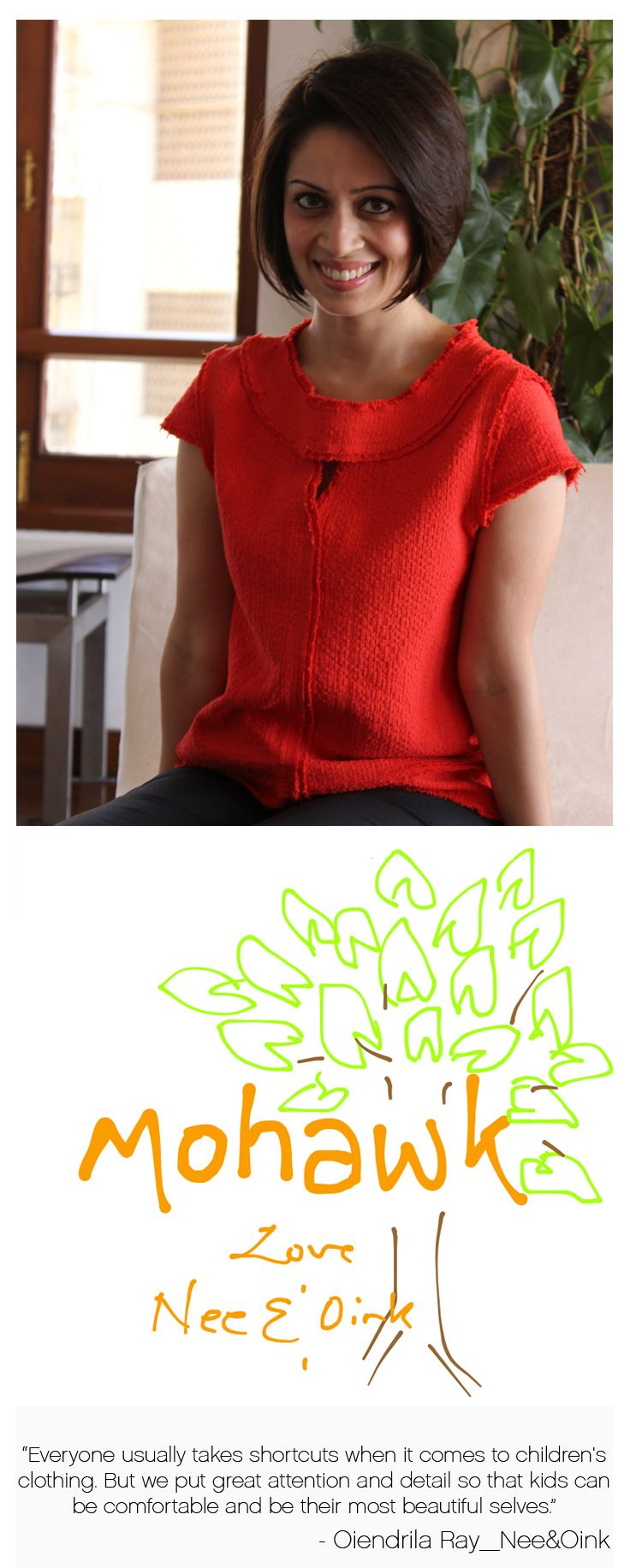 """""""Make clothing as natural and fuss free as possible for children"""" says Oiendrila Ray of Nee & Oink. https://www.youtube.com/watch?v=_MKsjaVO0Rc&list=PLNje6YNvJq0tXvQoHmVHy6QhGYBTL3HZk&index=10"""