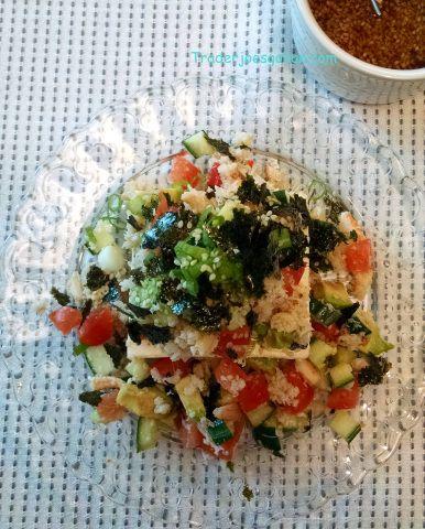 トレーダージョーズのかに缶で豆腐のサラダのレシピ