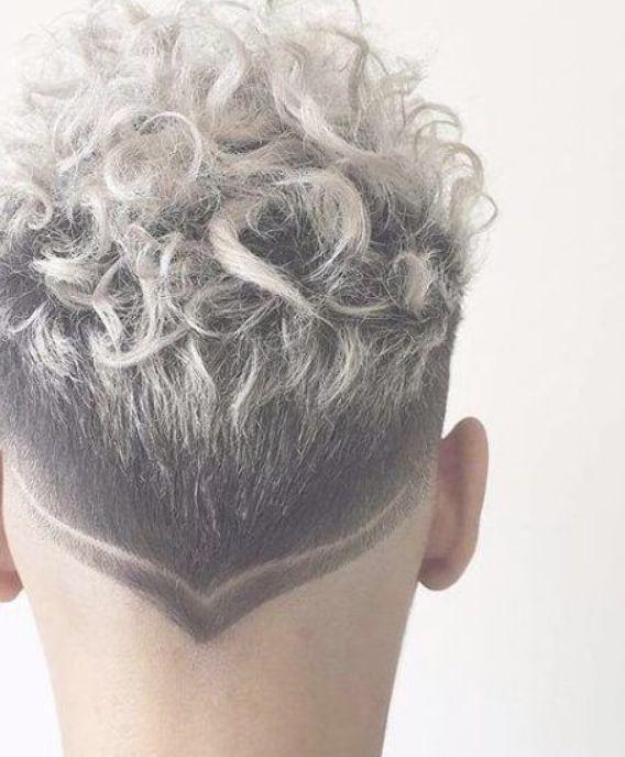 Platinum Hair Design Short Curly Hairstyles For Men Men Hair Color Colored Curly Hair Hair Color For Black Hair