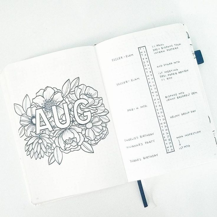 6 Amazing Bullet Journal Monthly Spread Ideas - Crafts On Fire