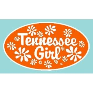 "Tennessee Volunteers 5"" Tennessee Girl Decal (Orange) at Sport Seasons"