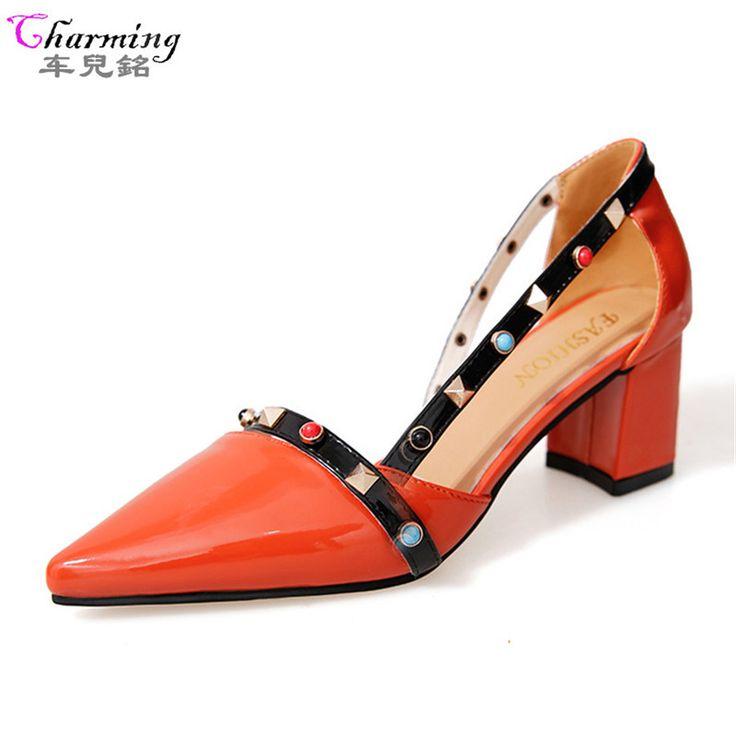 cristal diamant talons hauts épais des sandales fait main cuir femmes soir banquet fête boîte de nuit pompes creux boucle chaussons chaussures . green . 44 3Hbnv8