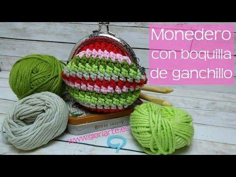 Monedero de ganchillo con boquilla | Punto bajo extendido crochet. Crochet purse. - YouTube