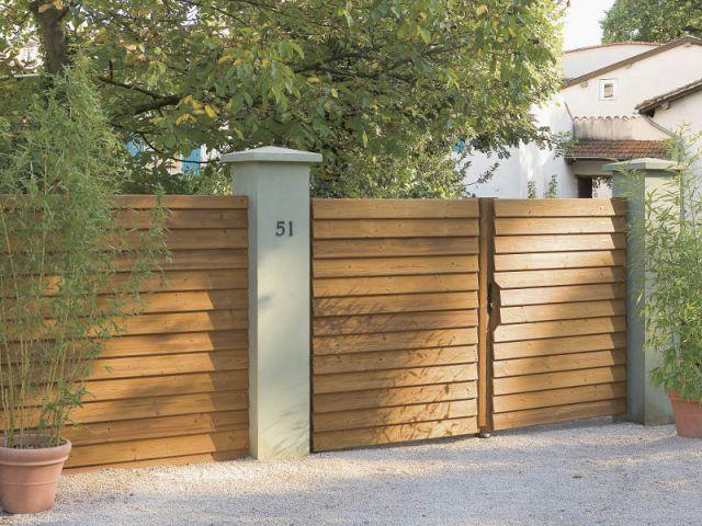 Les 113 meilleures images propos de portails et cl tures for Porte cloture bois