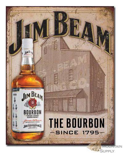 Tin Sign Jim Beam Bourbon