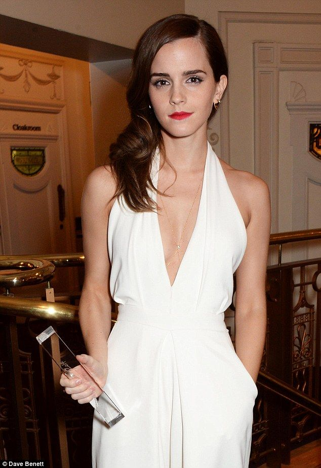 Devil's in the details: A close-up view of Emma revealed her to be wearing a delicate body chain
