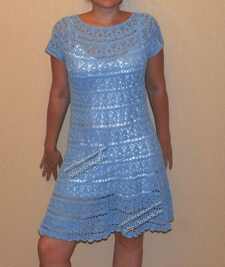 Платье на кокетке для малышки