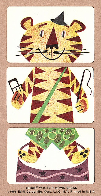 Tiger | 1956 Mixies® by Ed-U-Cards