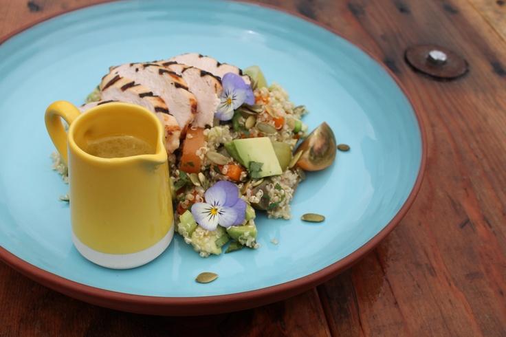 Grilled Chicken, Quinoa, Tomato and Avocado Salad www.socialpantry.co ...