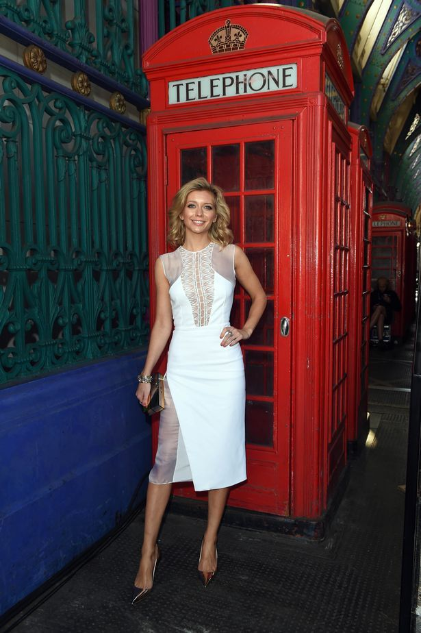 Rachel Riley looks AMAZING in sheer-panelled dress as she enjoys ...